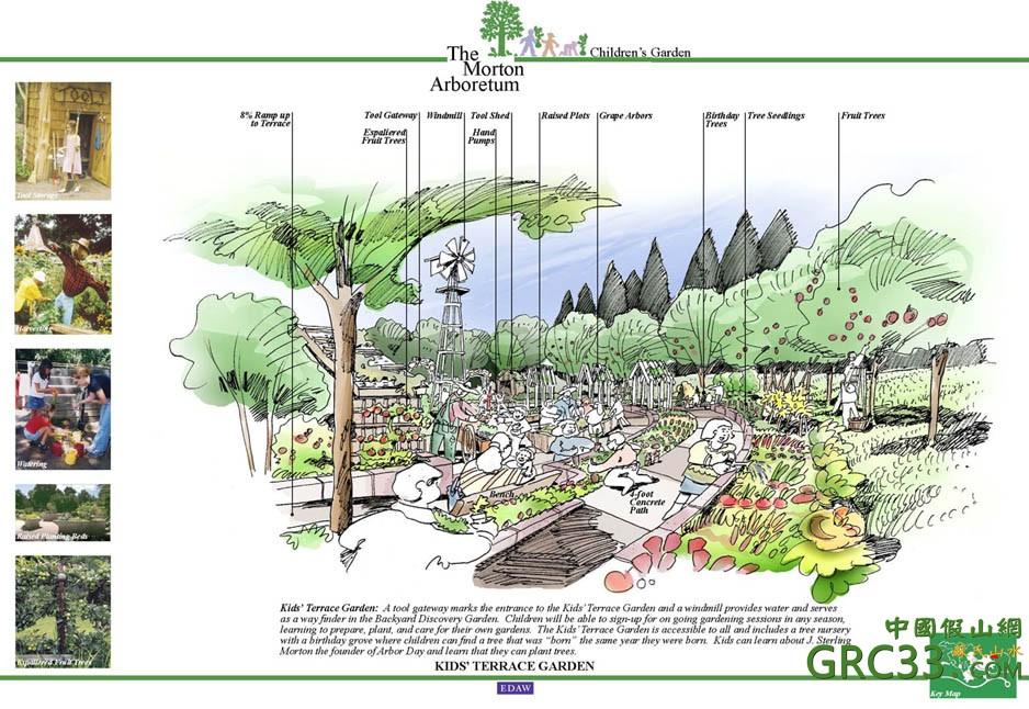 假山手绘--儿童公园设计